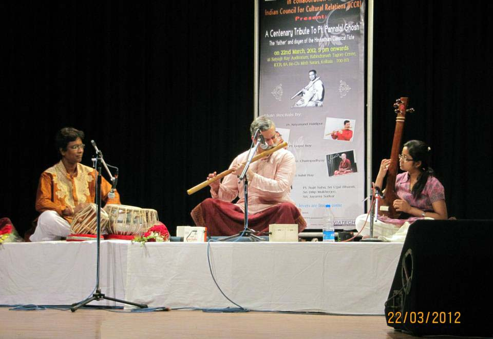 Nityanand Haldipur - Bansuri at the Pt. Pannalal Ghosh Centenary Concert - Kokata, 2012 - Sujit Saha - Tabla