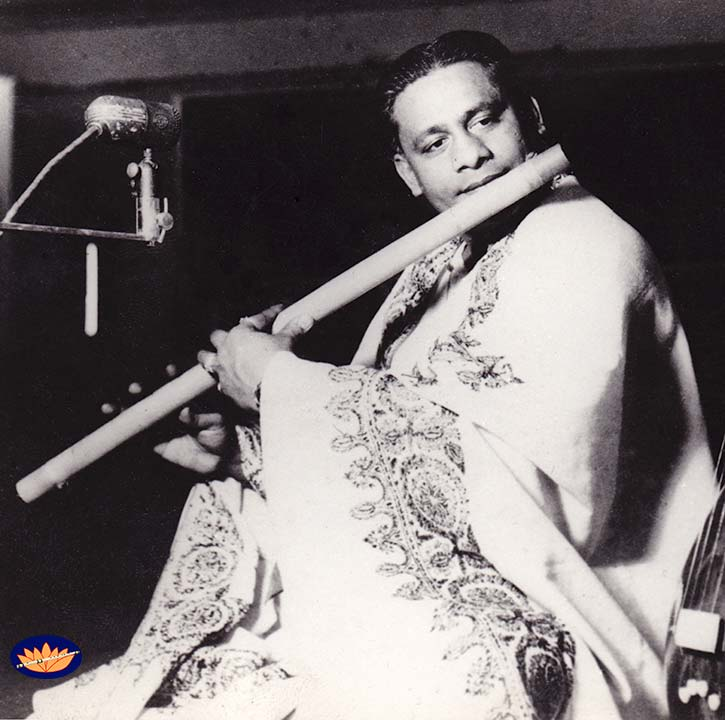 Pt. Pannalal Ghosh in recording studio
